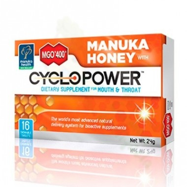 MGO 400 MANUKA HONEY CYCLOPOWER TABLETAS 16